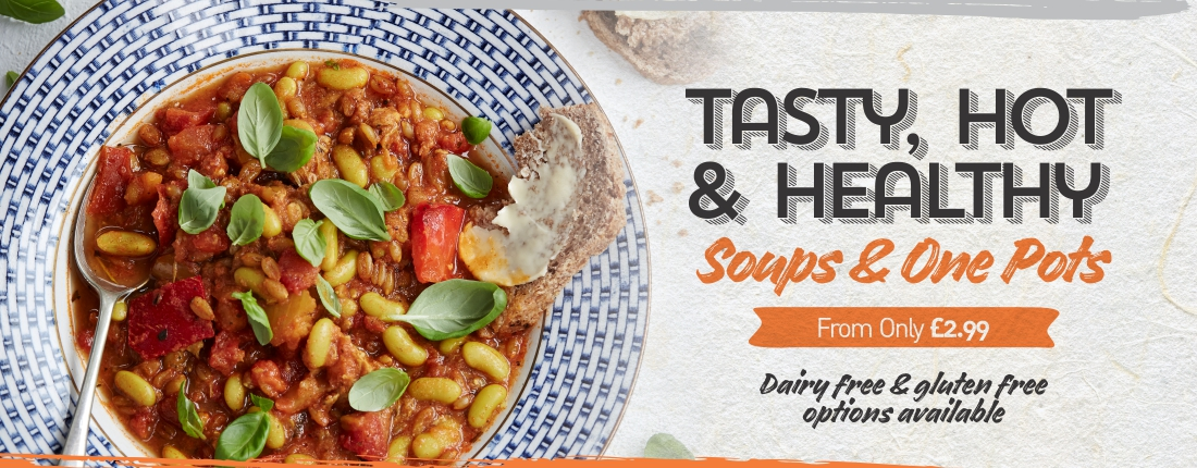 Soups and One Pots – tasty, hot & healthy